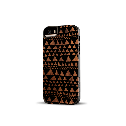 Printed Triangle Walnut iPhone 5/5s Case