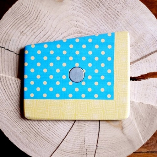 Wooden Pocket Square | Yellow Dots | Baffi | Baltic Birch