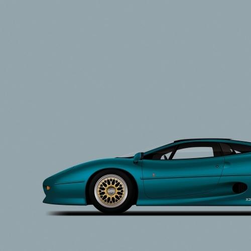 car prints, jaguar, jaguar xj220, luxury car art