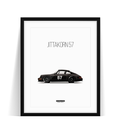 car prints, Jittakorn, Jittakorn 57, luxury car art