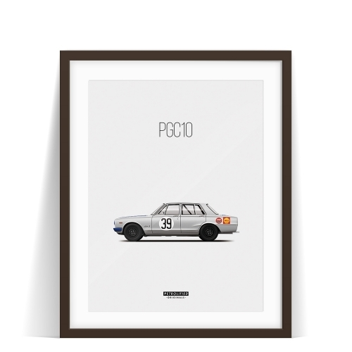 car prints, Nissan Skyline PGC10, luxury car art