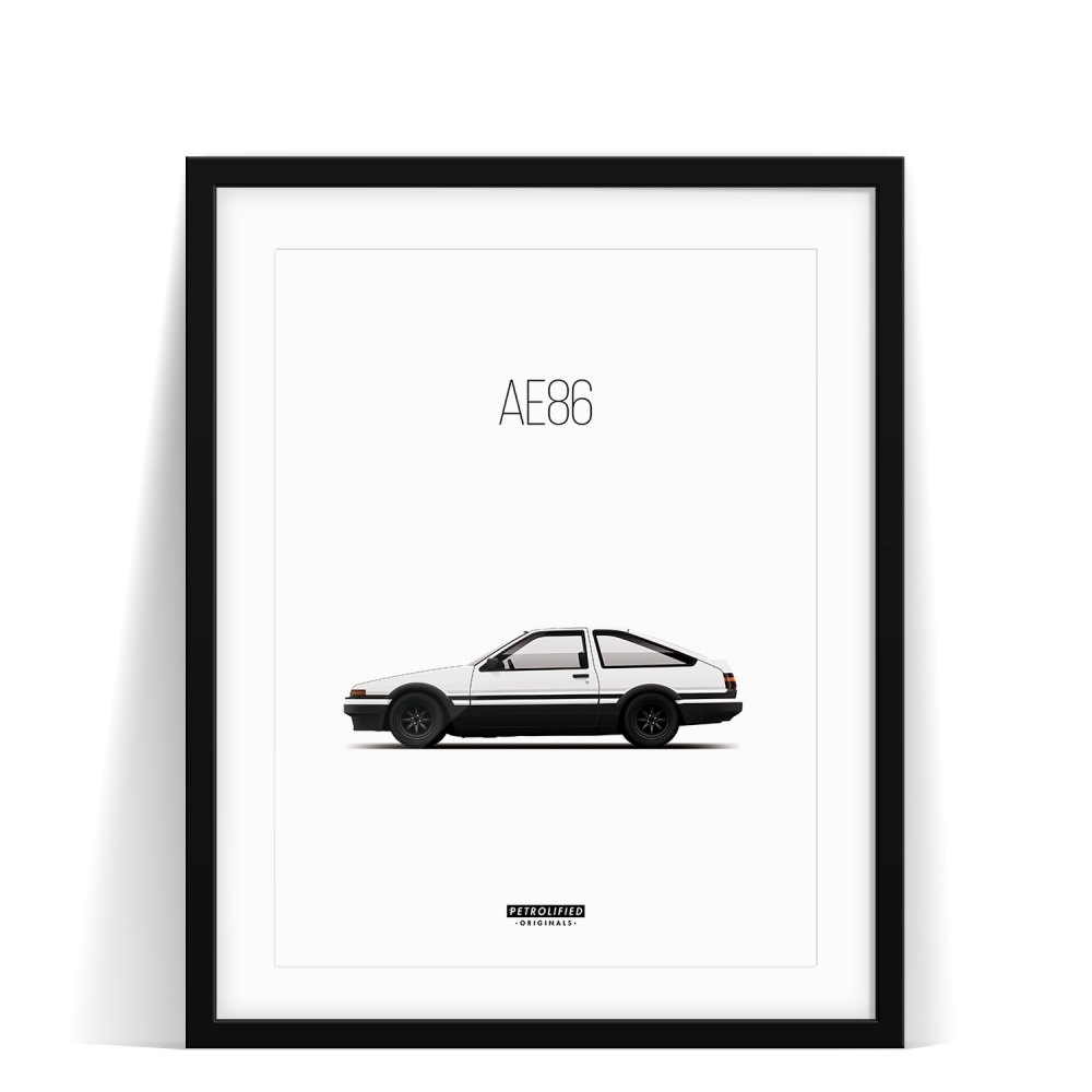 car prints, Toyota AE86, luxury car art