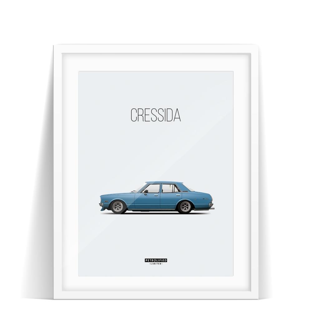 car prints, Toyota Cressida, luxury car art
