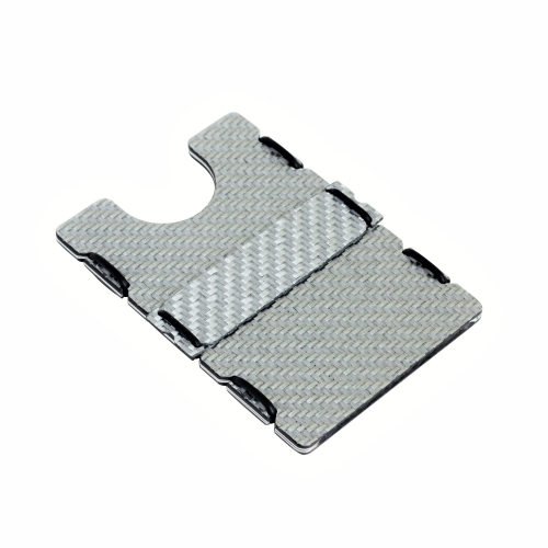 RFID Carbon Fiber Wallet - Silver