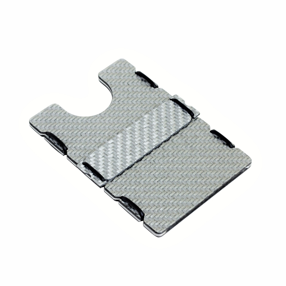 RFID Carbon Fiber Wallet - Silver, Slimtech