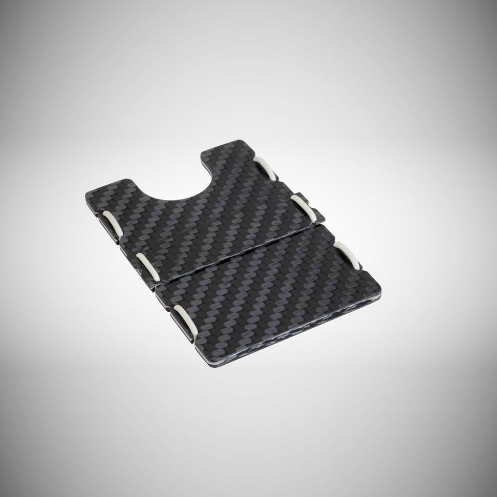 RIFD Carbon Fiber Wallet - White, Slimtech