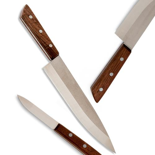 Claro Walnut Knives Set