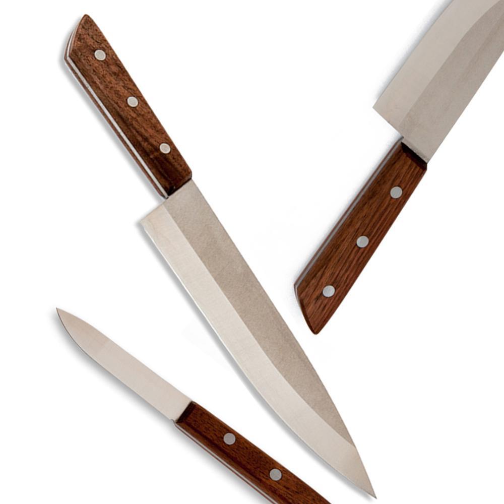 Claro Walnut Knives Set - Million and Clark