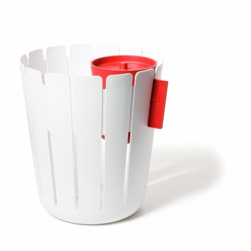 Basketbin, White/Red