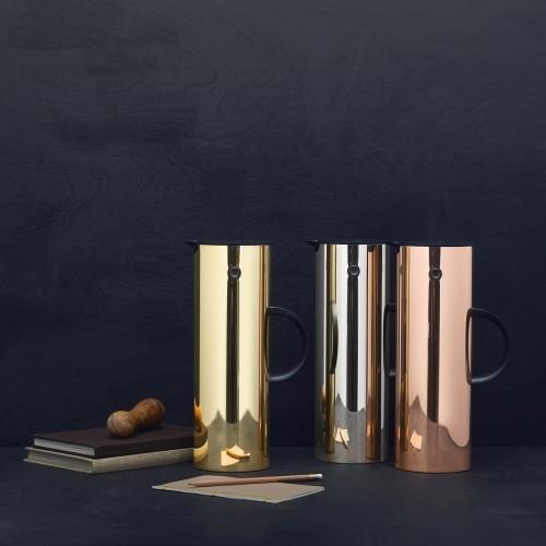 Vacuum Jug, Brass, Stelton