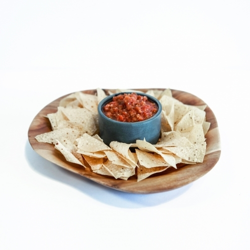 Acacia Chip/Dip Platter, Circle, Sparq Home