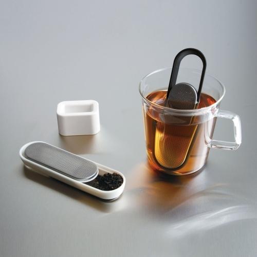 Loop Tea Strainer, White, Kinto