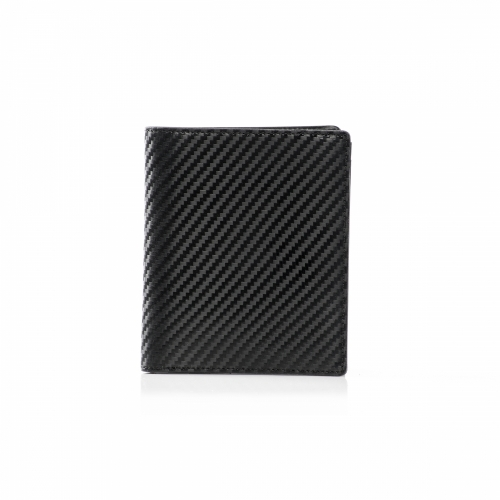 RFID Leather Carbon Slim Wallet