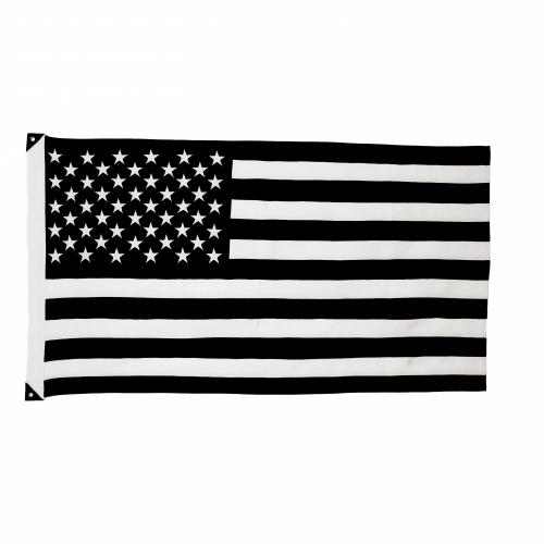 Wool American Flag, B+W