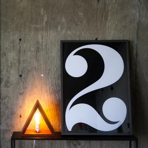 Mugavu Triangle Lamp, Rose & Fitzgerald