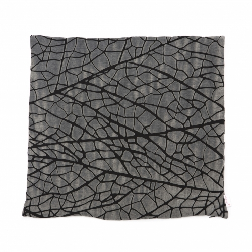 Vein Pillow Cover, Grey, Mikabarr