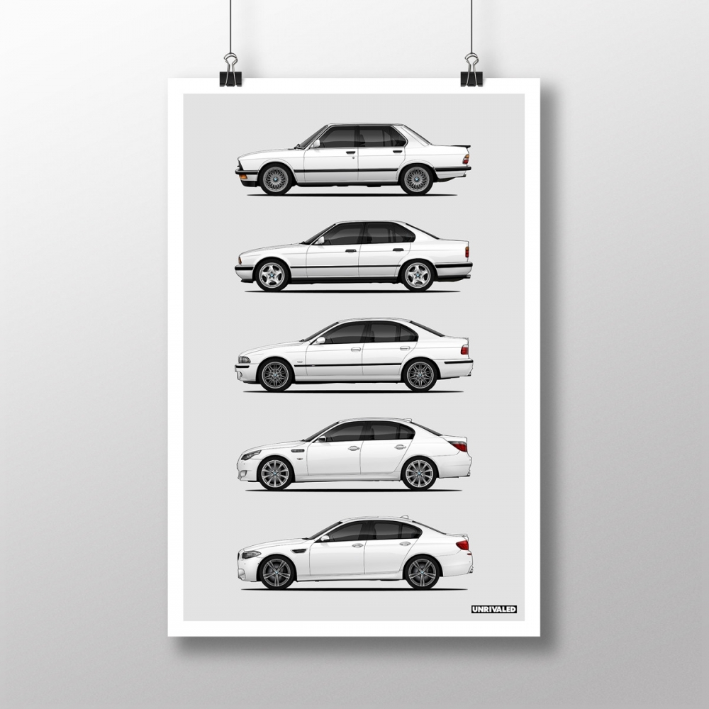 BMW M5 Generations Print, Unrivaled