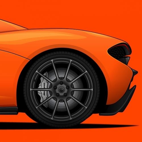 McLaren P1 Print, Unrivaled