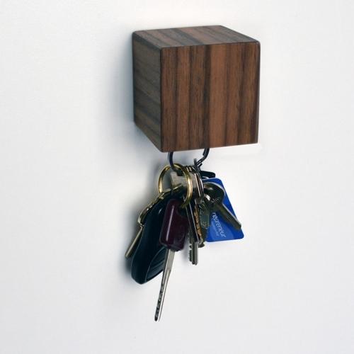 Kube Key Holder, Walnut