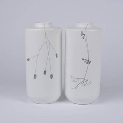 Flor Vase Set of 2, White