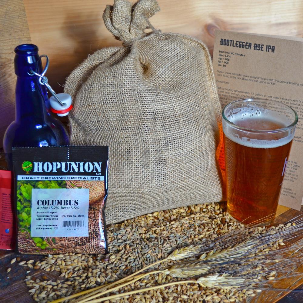 Beer Brewing Recipe Pack | Bootlegger Rye IPA | Box Brew Kit