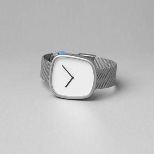 Pebble 06 - Steel on steel Strap Watch