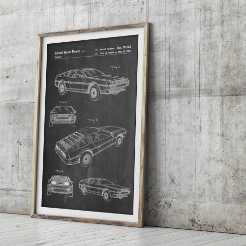 Delorean Patent Print - Patent Prints