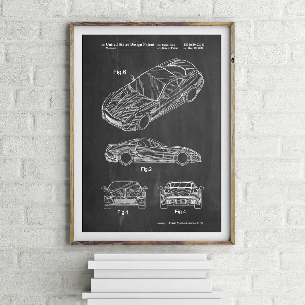 Ferrari Patent Print - Patent Prints