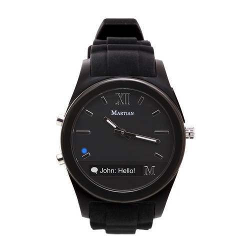 Notifier Smartwatch in Black/Black