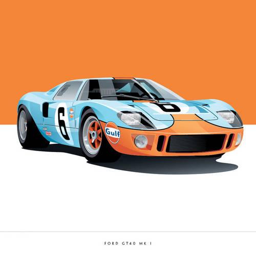 Ford GT40 MK 1 Art Print