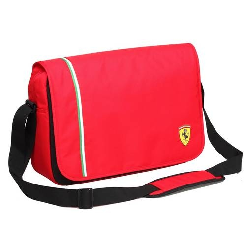 Active Messenger Bag, Red
