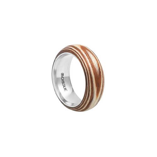 Duo Wide Sycamore + Mahogany Ring