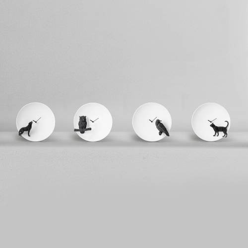 Moon X Raven Clock  - Haoshi Design
