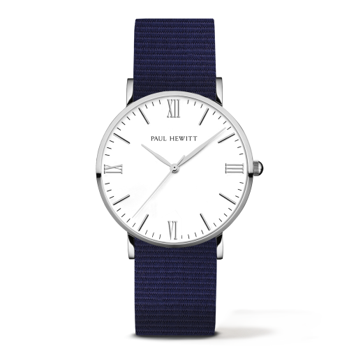 Silver Line Watch, Navy Blue
