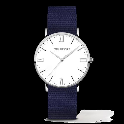 Silver Line Watch, Navy Blue