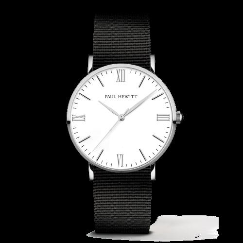 Silver Line Watch, Black