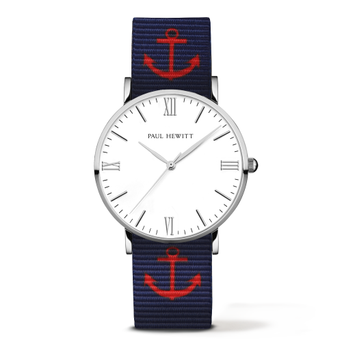 Silver Line Anchor Watch, Navy/Red