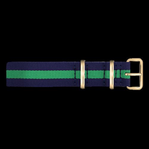 Gold Line Watch, Navy/Green - Paul Hewitt