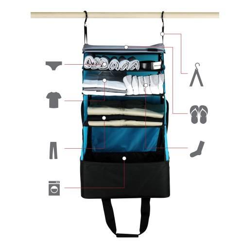 Jumper Carry-On Bag, Black/Blue