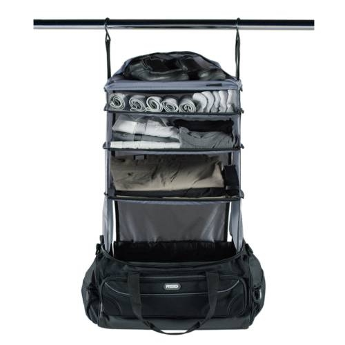 Weekender Duffle Bag with Collapsible Shelves - GREY