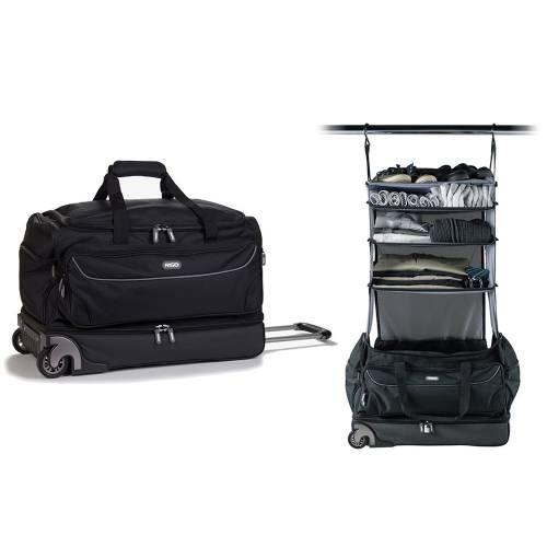 Roller Duffle Bag, Black/Grey