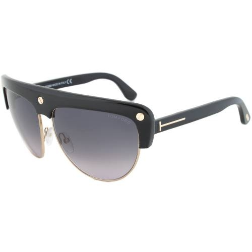 Tom Ford FT0318 01B Liane Shield Sunglasses