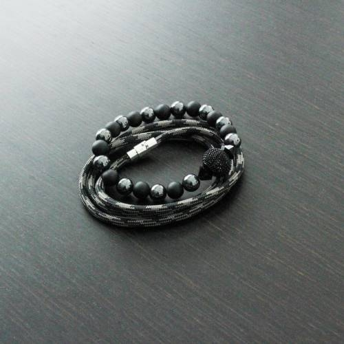 Vallour Bracelet Black and Gray Mesh Set