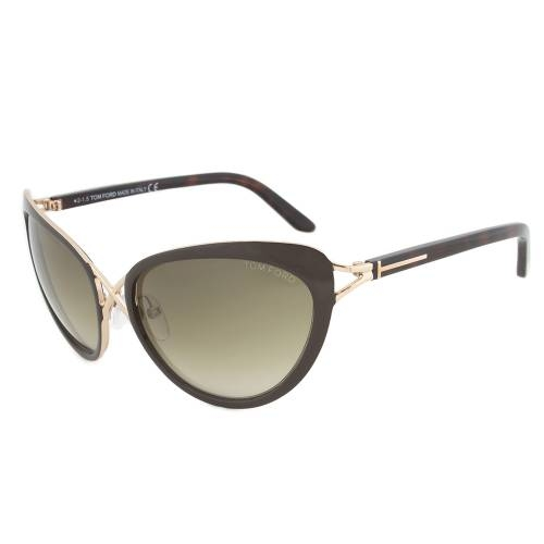 Tom Ford Daria Brown and Gold Cateye Sunglasses