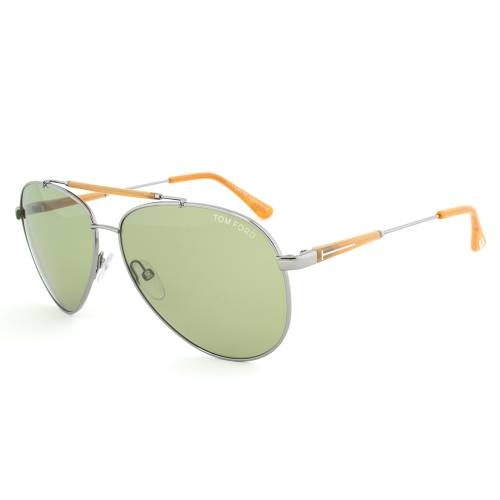 Tom Ford Edward Gunmetal Aviator Sunglasses