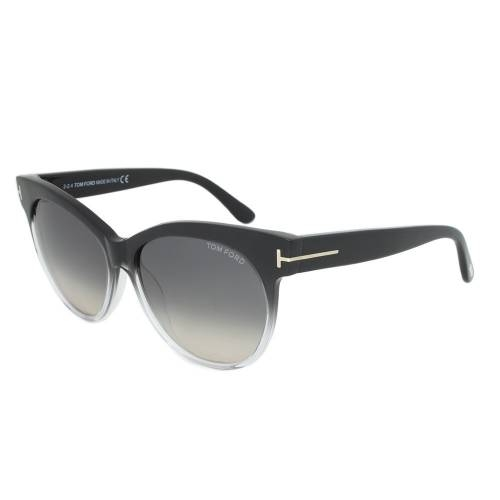 Tom Ford Saskia Sunglasses TF330 05B | Black/Opaque Frame