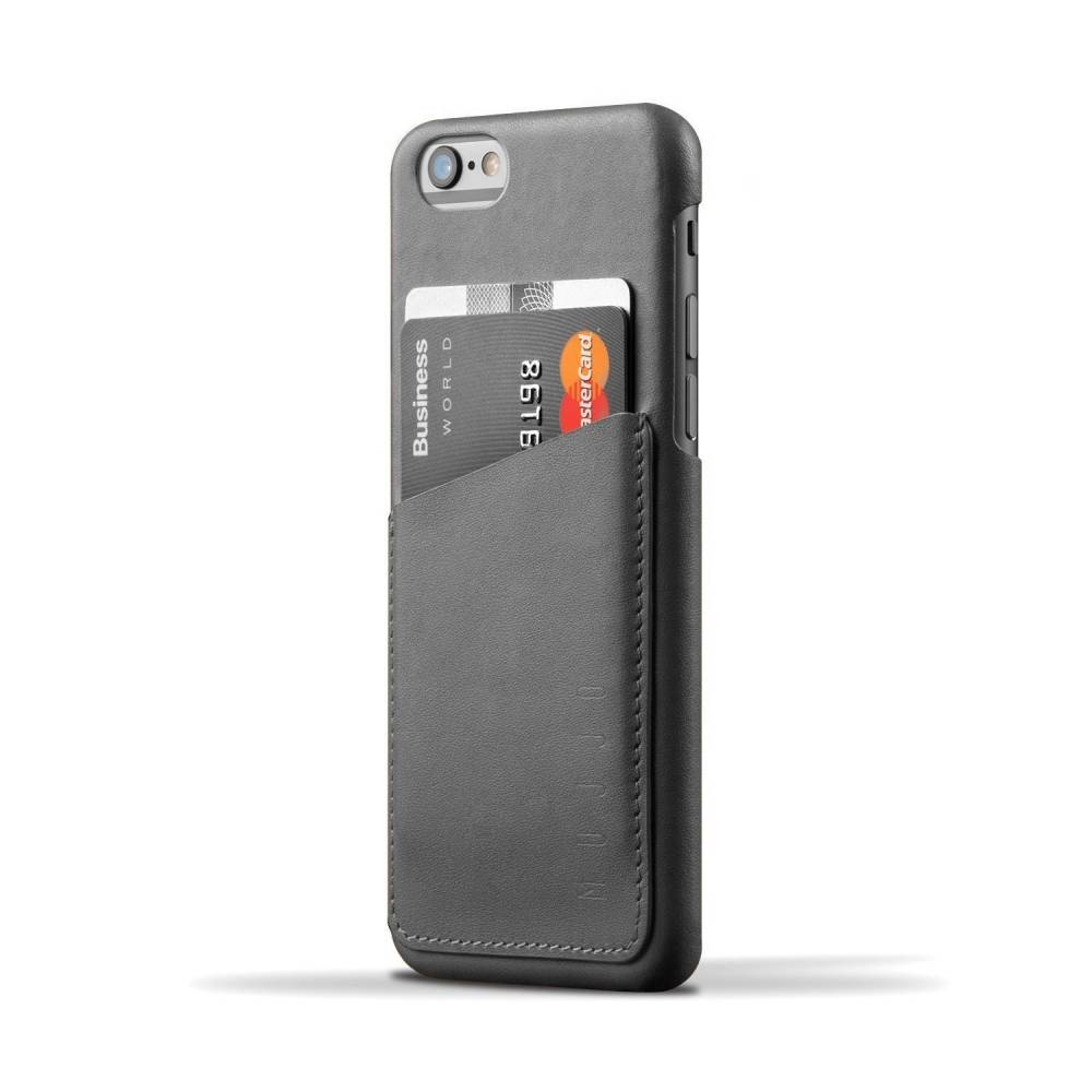 Leather Wallet Case for iPhone 6(s) | Gray | Mujjo