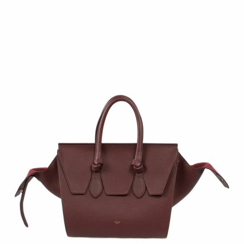 Medium Celine Tie Tote Burgundy