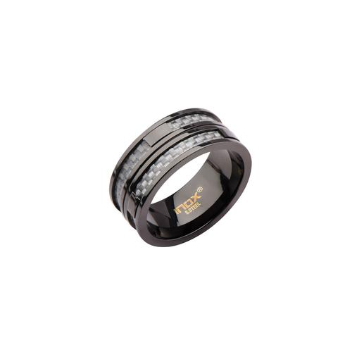 Grey Carbon Fiber Ring