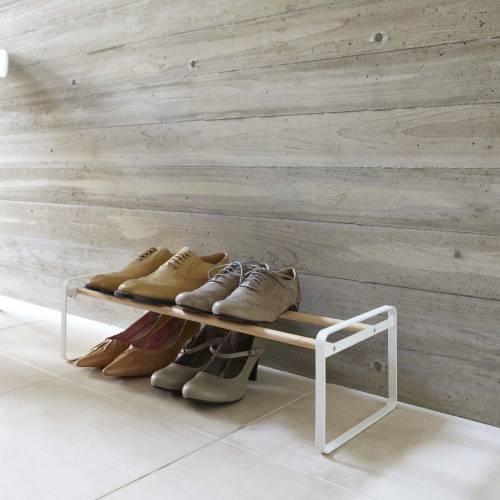 PLAIN SHOE RACK | White